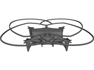 Quadrocopter Body CAD 3D Model