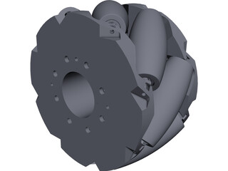 Mecanum Wheels CAD 3D Model
