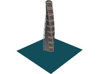 Turning Torso Tower Malmo 3D Model