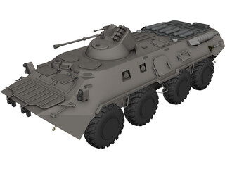 BTR-80 Armored Personnel Carrier CAD 3D Model