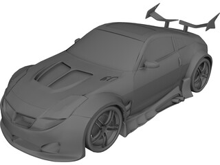 Nissan 350Z [Tuned] 3D Model 3D Preview
