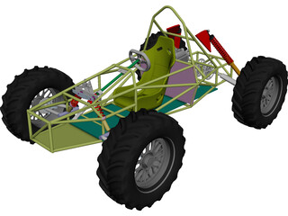 Chassis Kart Cross 3D Model