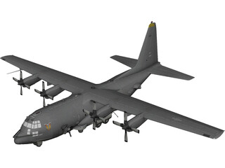 Lockheed AC-130 Spooky 3D Model
