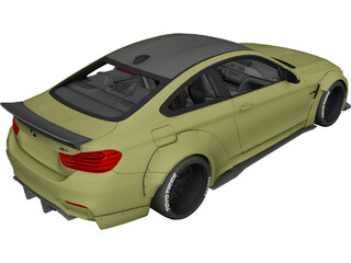 BMW M4 LB Performance 3D Model