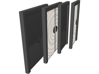 Art Deco Doors 3D Model
