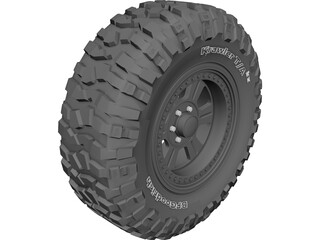 BF Goodrich Krawler TA Tire 3D Model