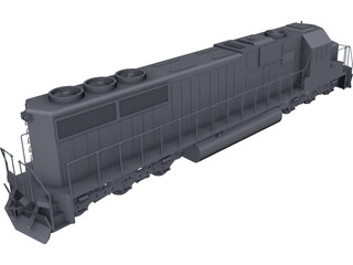 SD60 Train CAD 3D Model