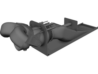 Rolls-Royce Waterjet CAD 3D Model