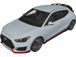 Hyundai Veloster (2019) 3D Model 3D Preview