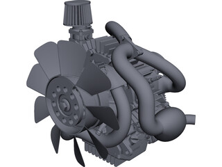 Two-Stroke Engine CAD 3D Model