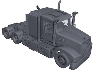 Mack Superliner CAD 3D Model
