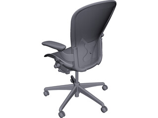 Herman Miller Aeron Chair CAD 3D Model
