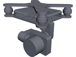 DJI Phantom Gimbal CAD 3D Model