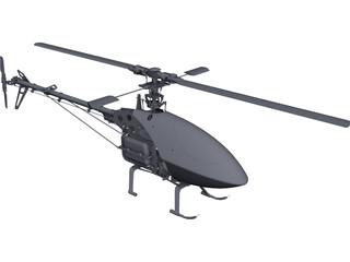 RC Helicopter CAD 3D Model