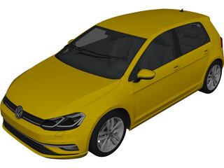 Volkswagen Golf (2017) 3D Model
