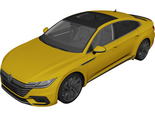 Volkswagen Arteon R-Line (2018) 3D Model 3D Preview