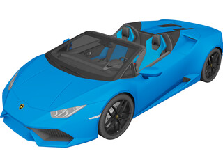 Lamborghini Huracan LP610-4 Spyder (2017) 3D Model 3D Preview