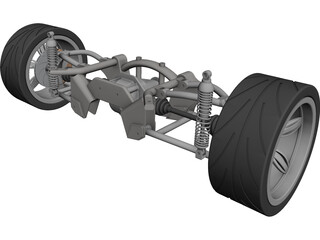 Rear Suspension CAD 3D Model
