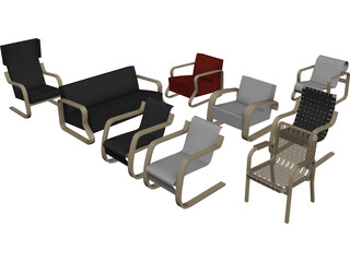 Armchair Collection 3D Model