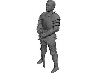 Young Knight 3D Model 3D Preview