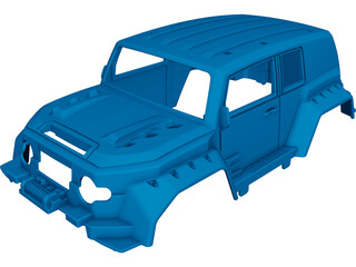 Toyota FJ Cruiser Body CAD 3D Model