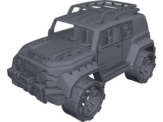 Toyota FJ Cruiser Toy CAD 3D Model