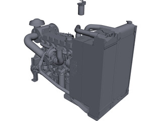 Cat C6.6 Engine CAD 3D Model
