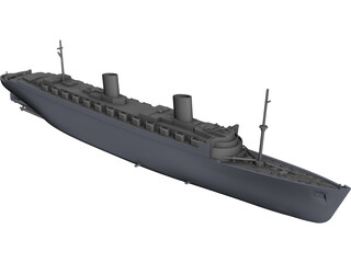 Queen Elizabeth (1940) CAD 3D Model