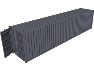 Container 40ft CAD 3D Model