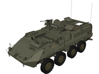 Stryker APC 3D Model 3D Preview