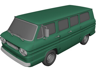 Chevrolet Corvair Greenbrier (1961) 3D Model 3D Preview