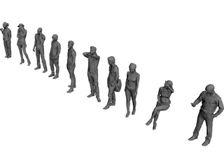 People Collection 3D Model
