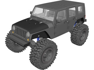 Jeep Wrangler Unlimited (2017) [Lifted] 3D Model