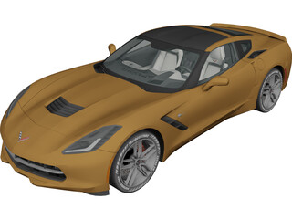 Chevorlet Corvette C7 Stingray V8 (2015) 3D Model