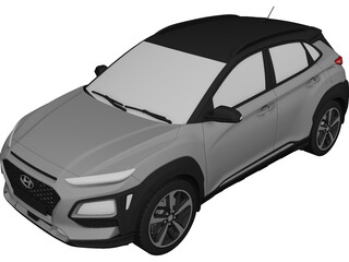 Hyundai Kona (2018) 3D Model
