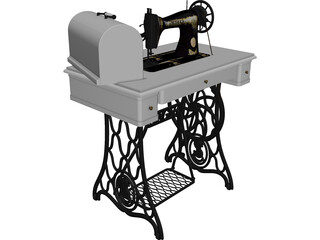 Singer Sewing Machine 3D Model