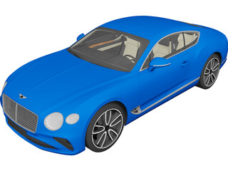 Bentley Continental GT (2018) 3D Model