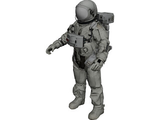Space Suit 3D Model 3D Preview