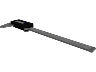 Stainless Steel Digital Calipers CAD 3D Model