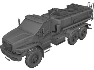 Ural Next Fuel Truck 3D Model
