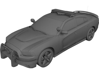 Dodge Charger SRT-8 2012 Police 3D Model