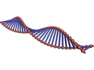 DNA Double Helix 3D Model 3D Preview