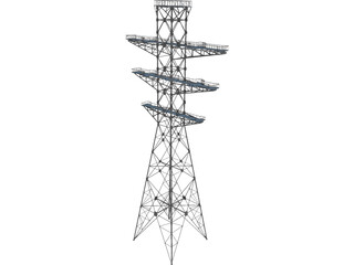 Electrical Tower 3D Model