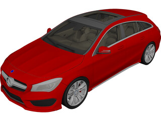 Mercedes-Benz CLA-Class Shooting Brake (2017) 3D Model