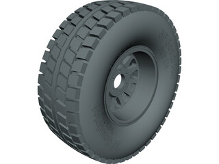 BFGoodrich Baja Wheel CAD 3D Model