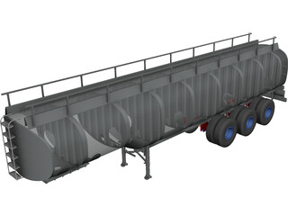 Fuel Transport Tank CAD 3D Model