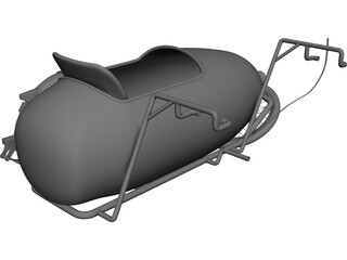 Moped Sidecar 3D Model