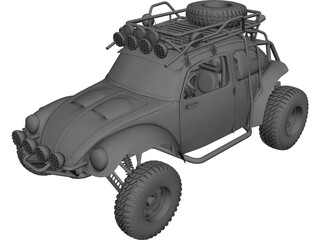 Volkswagen Beetle Trophy Truck 3D Model