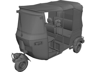Open Auto Rickshaw 3D Model 3D Preview