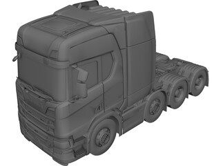 Scania S6000 3D Model 3D Preview